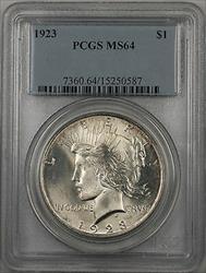 1923  Peace  $1  PCGS (BR 12 E)