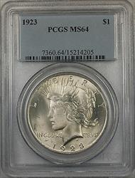 1923  Peace  $1  PCGS (BR 12 F)