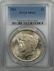 1923  Peace  $1  PCGS (BR 29 F)