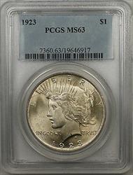 1923  Peace  $1  PCGS (BR 29 H)