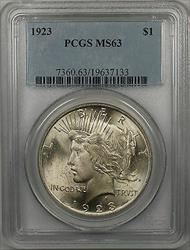 1923  Peace  $1  PCGS (BR 29 R)