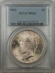 1923  Peace  $1  PCGS Better  (BR 12 Q)