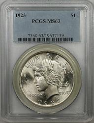 1923  Peace  $1  PCGS Better  (BR 29 Q)