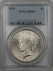1923  Peace  $1  PCGS Light Toning (BR 12 C)