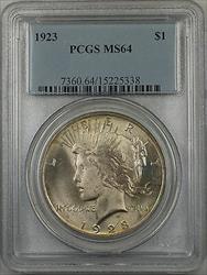 1923  Peace  $1  PCGS Light Toning (BR 12 J)