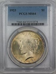 1923  Peace  $1  PCGS Lightly Toned (12d)