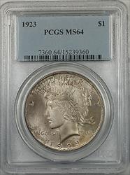 1923  Peace  $1  PCGS Toned (BR 12 T)