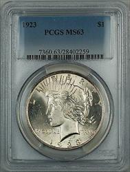 1923  Peace  $1 PCGS (Better ) DMK