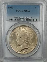 1923  Peace  $1 PCGS 5D Light Toning