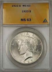 1923 $1 Peace    ANACS (Better  8C)