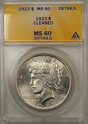 1923 $1 Peace    ANACS (Better ) (8A)