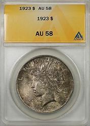 1923 $1 Peace    ANACS Toned (Better ) (8A)