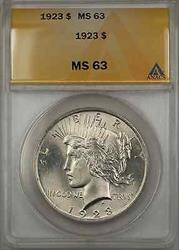 1923 Peace    $1  With Condition At ANACS  A Great Find!