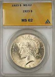 1923 Peace    ANACS $1 (8A)