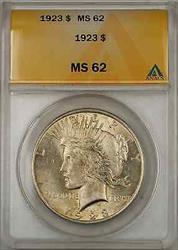 1923 Peace    ANACS $1 (8B)