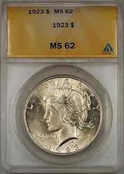 1923 Peace    ANACS $1 (8D)