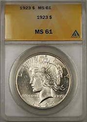 1923 Peace    ANACS $1 (8E)