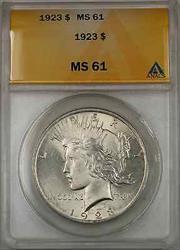 1923 Peace    ANACS $1 (Better  8B)