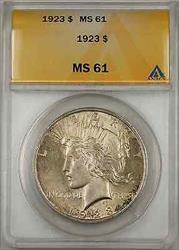 1923 Peace    ANACS $1 (Toned Better  8A)