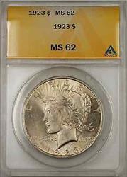 1923 Peace    ANACS $1 (Toned Better  8C)