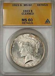 1923 Peace    ANACS $1 Details Cleaned (Better  8G)