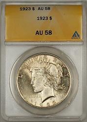 1923 Peace   $1  ANACS (10)