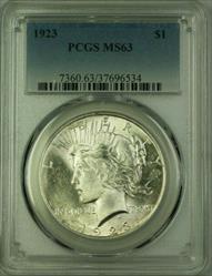1923 Peace   $1  PCGS (16) G
