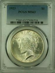 1923 Peace   $1  PCGS (16) J