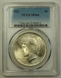 1923 Peace   $1  PCGS (Better Gem In Our Opinion) (B) (18)