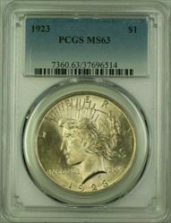 1923 Peace   $1  PCGS Light Toning (Better ) (16) N