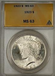 1923 Peace   $1 ANACS (Better ) (10b)