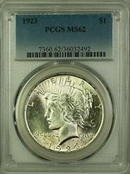 1923 Peace   $1 PCGS (Better ) (2)