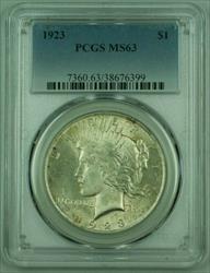 1923 Peace   PCGS Lightly Toned (25) (B)