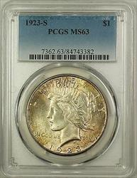 1923 S  Peace  $1  PCGS Toned (Better ) (16)