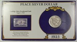 1923 S Peace   $1  in Informational Holder with Stamp