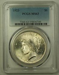 1923 US  Peace  $1  PCGS (Better) (A) 19