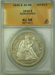 1846 Seated Liberty   $1  ANACS Details RJS