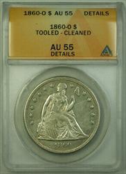 1860 O Seated Liberty   $1  ANACS Details RJS