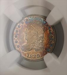 1829 Proof Capped Bust  Half Dime 5c  NGC Toned (Proof) RARE