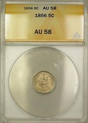 1856 Seated Liberty  Half Dime 5c  ANACS