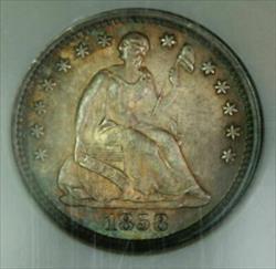 1858 O  Half Dime  NGC  Jules Reiver