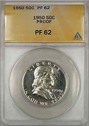 1950 Franklin Half   50C ANACS Proof Better Quality