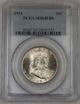 1954 Franklin  Half  50c  PCGS FBL 1B
