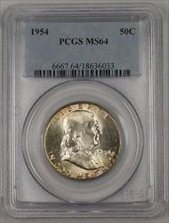 1954 Franklin  Half  50c  PCGS Peripheral Toning 1A