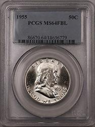 1955 Franklin  Half  50c  PCGS FBL (BR 30 A)