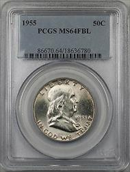 1955 Franklin  Half  50c  PCGS FBL (BR 30 H)