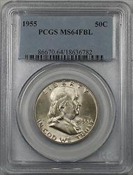 1955 Franklin  Half  50c  PCGS FBL (BR 30 I)