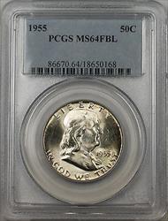 1955 Franklin  Half  50c  PCGS FBL Better  (BR 30 M)