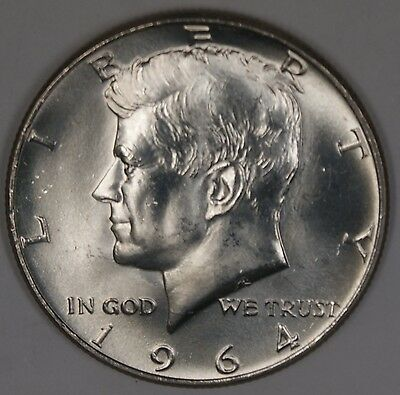 1964 D Kennedy Half  BU Roll 20 s 90%