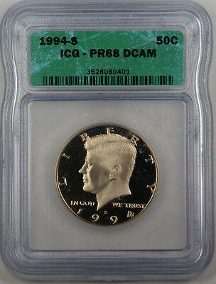 1994 S Proof Kennedy Half  ICG DCAM